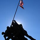 Iwo Jima Monument in Sun  by DLR4