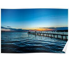 Sunset over the Slovenian Coastline Poster