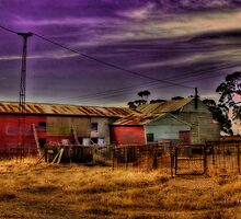 Wal Wal Shearing Shed by Jennifer Craker
