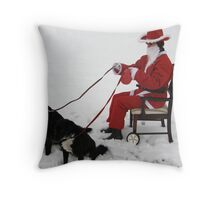 NEWSFLASH !! -  REVISITED - CONFIRMED -SANTA HIT BY CREDIT CRUNCH !!!! Throw Pillow
