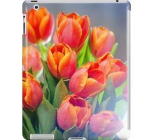 Bouquet of red tulips iPad Case/Skin