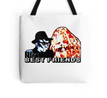Best Friends - Eatin' Pizza Tote Bag