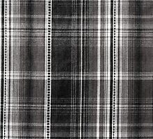 Black white checked cotton cloth by Arletta Cwalina