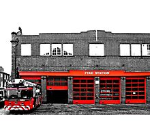 Fire Station Photographic Print