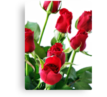~ red roses for my love ~ Canvas Print