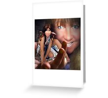 The Elf and the Giant Greeting Card