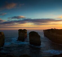 Sunset over Loch Ard Gorge by ©Josephine Caruana