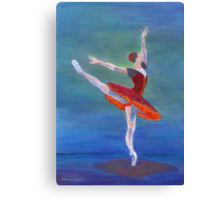 Red Ballerina Canvas Print