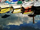 Boat Reflections  by Margie Avellino