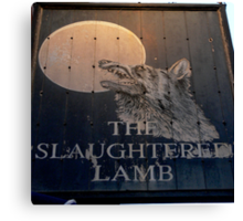 The Slaughtered Lamb Canvas Print