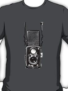 Classic Retro Rolleiflex Twin Lens Reflex Film Camera T-Shirt