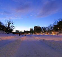 The World's Longest Skating Rink at Dusk by Geoffrey