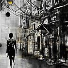 china town walk by Loui  Jover