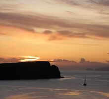 Summer sky over St Ninians and Foula by matthewvl