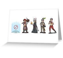 No Save Points Players Only Greeting Card