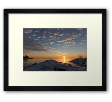 Greeting the Winter Sun on the Lake Framed Print