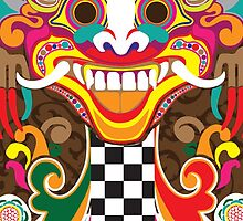 Bali Art Barong Mask by D5DBEST