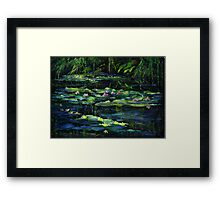 Monet's Garden at Giverny Framed Print