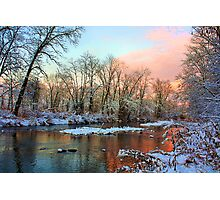Early Winter Snow Photographic Print