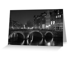 Frozen Amsterdam Greeting Card