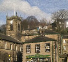 Holmfirth - Watercolour Effect by Glen Allen