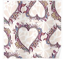Blossoming Heart pattern Poster