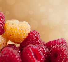 fresh ripe raspberry fruits by Arletta Cwalina