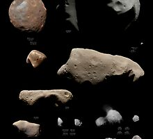 Asteroids, comets, and moonlets visited by spacecraft by elakdawalla