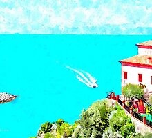 Agropoli: landscape with beach by Giuseppe Cocco
