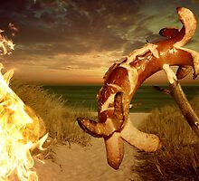 Barbecue on the beach by franceslewis