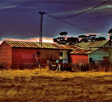 Wal Wal Shearing Shed V02 by Jennifer Craker