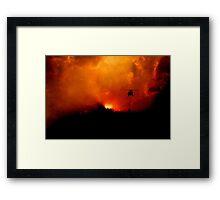 Bushfire Sun Framed Print