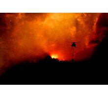 Bushfire Sun Photographic Print