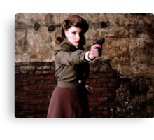 Tanya Wheelock as Peggy Carter (Photography by Misty Autumn Imagery) Canvas Print