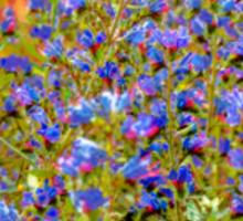 Blue Violet World Of Flowers Sticker