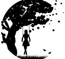 Girl on swing by AnnArtshock