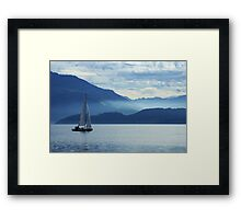 sailing on lake Zug, Switzerland Framed Print