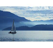 sailing on lake Zug, Switzerland Photographic Print