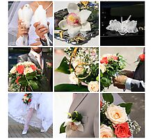 Wedding collage Photographic Print