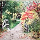 Bike Trail in Fall by Carolyn Bishop