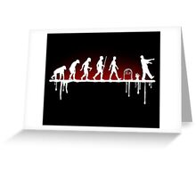 Evolution: Zombie Greeting Card