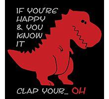 """""""Happy"""" T-rex Photographic Print"""