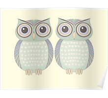 Owl Twins Poster