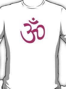 Om Ohm Pink T-Shirt