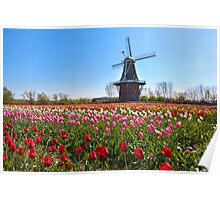 Wooden Windmill in Holland Michigan Poster