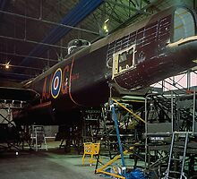 Lancaster PA474 during major servicing by Colin Smedley