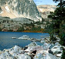 Colorado Mountain Lake  by Tex Smock
