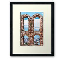 Ancient aqueduct panorama Framed Print