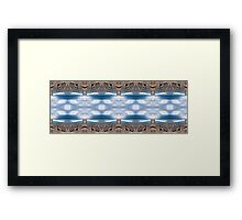 Stormy straight mirrored X16 Framed Print