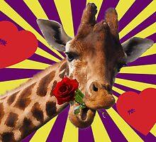 The Love Giraffe by Evobrush